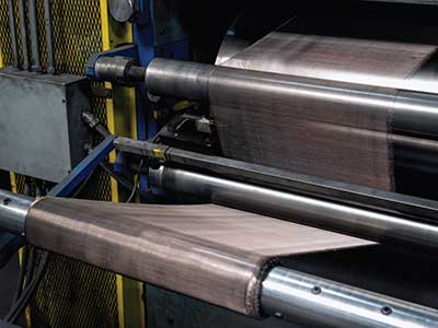 Calendaring Pressure Rollers for woven wire mesh