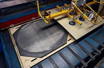 formed to size antennae reflector woven wire mesh