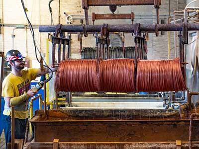 fine wire batch copper coating